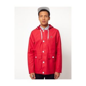 Men's Red Lacoste Live Mountain Parka